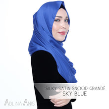 Load image into Gallery viewer, Silky Satin Snood Grande - Sky Blue - Snoods Grande - Adlina Anis - Third Culture Boutique