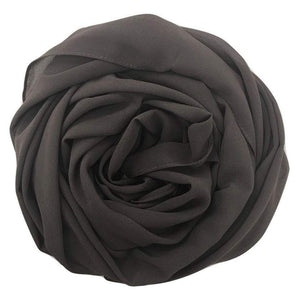 Niswa Fashion - Chiffon Scarf - GRAPHITE GREY - Basic Chiffon - Niswa Fashion - Third Culture Boutique