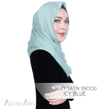 Load image into Gallery viewer, Silky Satin Snood - Icy Blue - Snoods - Adlina Anis - Third Culture Boutique