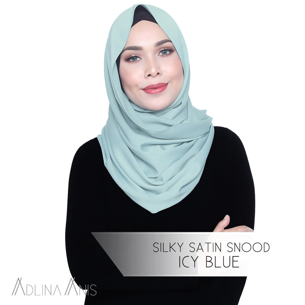 Silky Satin Snood - Icy Blue - Snoods - Adlina Anis - Third Culture Boutique