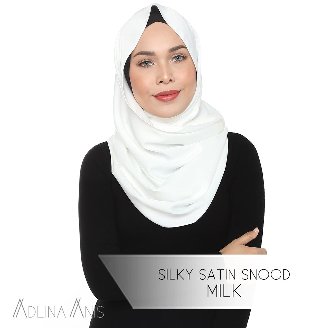 Silky Satin Snood - Milk - Snoods - Adlina Anis - Third Culture Boutique