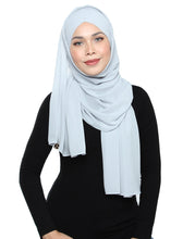 Load image into Gallery viewer, Lux Turban Chiffon Shawl - Misty Grey