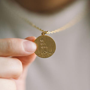"""MY VOICE MOVES MOUNTAINS"" NECKLACE 
