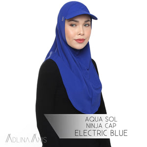 Aqua Sol Ninja Cap - Electric Blue - sports - Adlina Anis - Third Culture Boutique