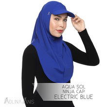 Load image into Gallery viewer, Aqua Sol Ninja Cap - Electric Blue - sports - Adlina Anis - Third Culture Boutique