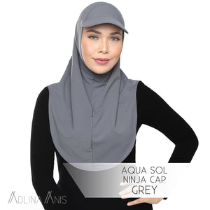 Aqua Sol Ninja Cap - Grey - sports - Adlina Anis - Third Culture Boutique