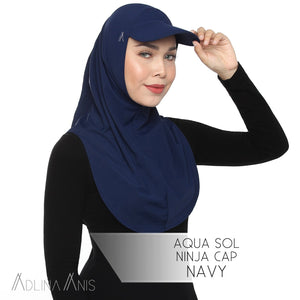 Aqua Sol Ninja Cap - Navy - sports - Adlina Anis - Third Culture Boutique