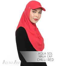 Load image into Gallery viewer, Aqua Sol Ninja Cap - Chili Red - sports - Adlina Anis - Third Culture Boutique