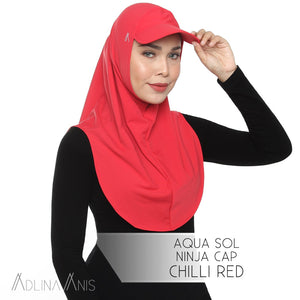 Aqua Sol Ninja Cap - Chili Red - sports - Adlina Anis - Third Culture Boutique