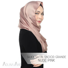 Load image into Gallery viewer, Silky Satin Snood Grande - Nude Pink - Snoods Grande - Adlina Anis - Third Culture Boutique
