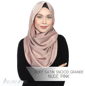 Silky Satin Snood Grande - Nude Pink - Snoods Grande - Adlina Anis - Third Culture Boutique