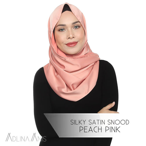 Silky Satin Snood - Peach Pink - Snoods - Adlina Anis - Third Culture Boutique