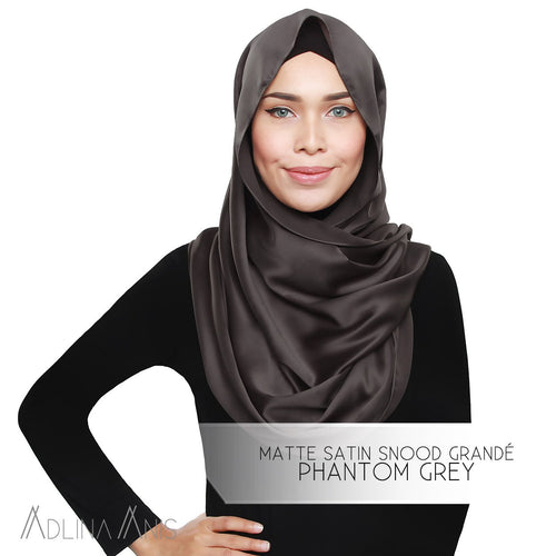 Matte Satin Snood Grande - Phantom Grey - Third Culture Boutique