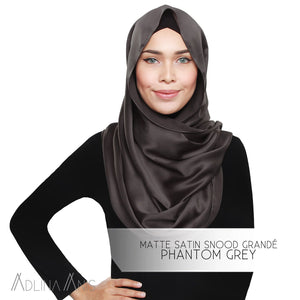 Matte Satin Snood Grande - Phantom Grey - Snoods Grande - Adlina Anis - Third Culture Boutique