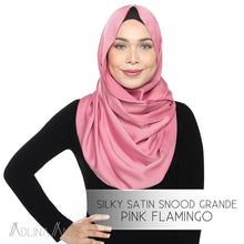 Load image into Gallery viewer, Silky Satin Snood Grande - Pink Flamingo - Snoods Grande - Adlina Anis - Third Culture Boutique