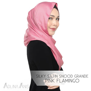Silky Satin Snood Grande - Pink Flamingo - Third Culture Boutique