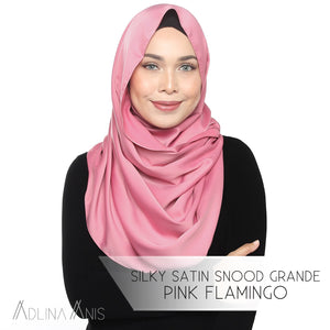 Silky Satin Snood Grande - Pink Flamingo - Snoods Grande - Adlina Anis - Third Culture Boutique