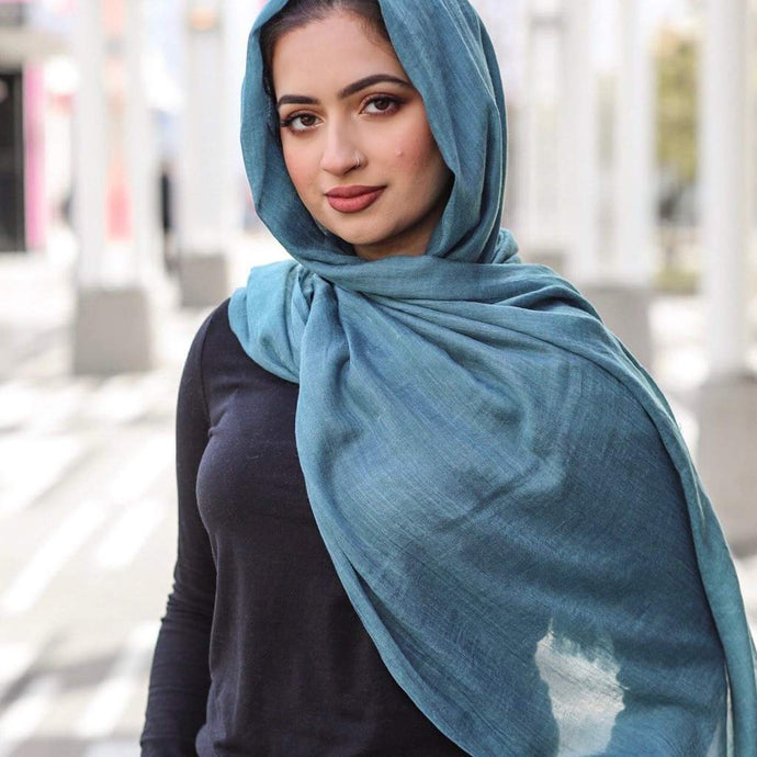 Niswa Fashion - Viscose scarf - Prussian Blue - viscose - Niswa Fashion - Third Culture Boutique