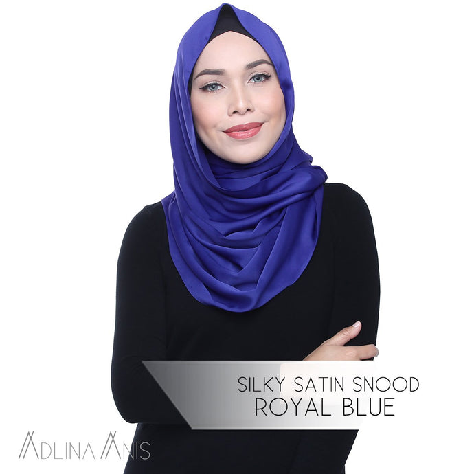 Silky Satin Snood - Royal Blue - Snoods - Adlina Anis - Third Culture Boutique