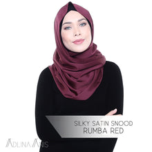 Load image into Gallery viewer, Silky Satin Snood - Rumba Red - Third Culture Boutique