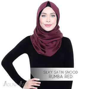 Silky Satin Snood - Rumba Red - Third Culture Boutique