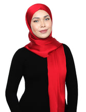 Load image into Gallery viewer, Lux Square Satin Crepe Shawl - Scarlet