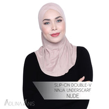 Load image into Gallery viewer, Slip-On Double-V Ninja Underscarf - Nude - underscarves - Adlina Anis - Third Culture Boutique
