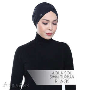Aqua Sol Swim Turban - Black - Swimming caps - Adlina Anis - Third Culture Boutique