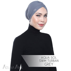 Aqua Sol Swim Turban - Grey - Swimming caps - Adlina Anis - Third Culture Boutique