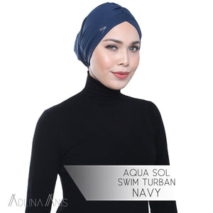 Aqua Sol Swim Turban - Navy - Swimming caps - Adlina Anis - Third Culture Boutique