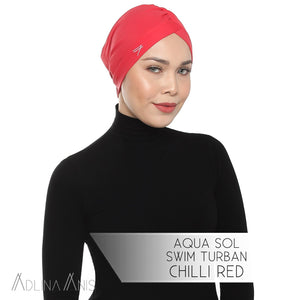 Aqua Sol Swim Turban - Chili Red - Swimming caps - Adlina Anis - Third Culture Boutique