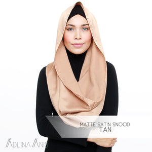 Matte Satin Snood - Tan - Snoods - Adlina Anis - Third Culture Boutique