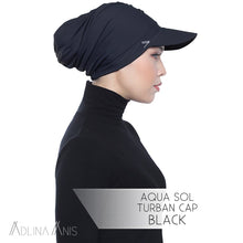 Load image into Gallery viewer, Aqua Sol Turban Cap - Black - sports - Adlina Anis - Third Culture Boutique