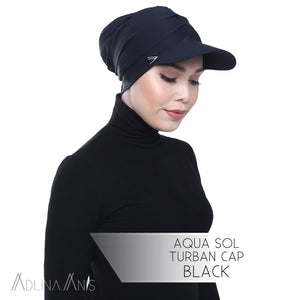 Aqua Sol Turban Cap - Black - sports - Adlina Anis - Third Culture Boutique