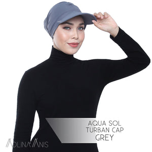 Aqua Sol Turban Cap - Grey - sports - Adlina Anis - Third Culture Boutique