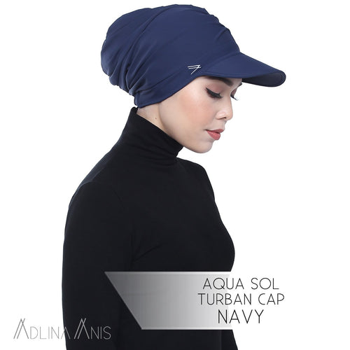 Aqua Sol Turban Cap - Navy - sports - Adlina Anis - Third Culture Boutique