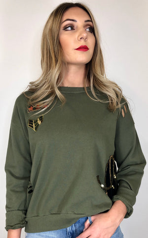 Sojara patch sweatshirt