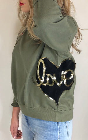 Sojara patch sweatshirt LOVE