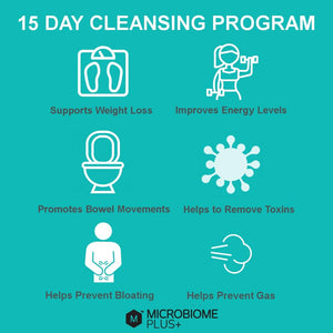 Microbiome Plus+ Colon Cleanse Probiotic Natural Detox 120 Capsules 4 Cleansing Cycles
