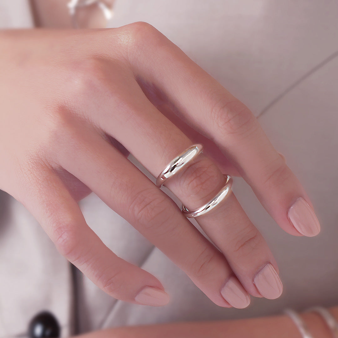 Double Loop Knuckle Ring