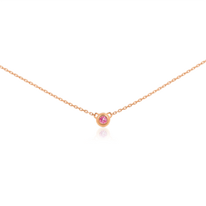 Tous Les Jours Necklace in Pink Sapphire