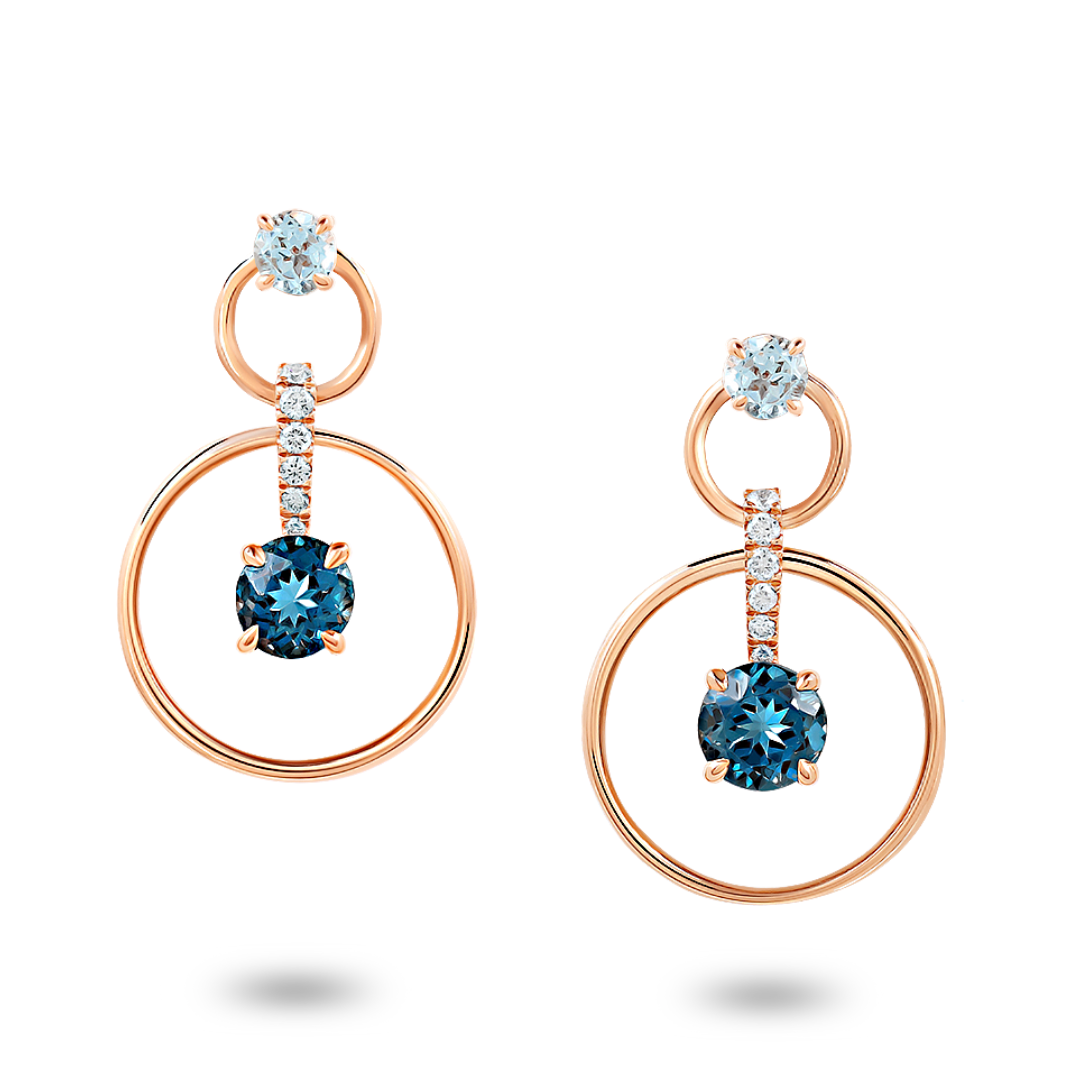 Topaz & Diamonds Jacket Earrings
