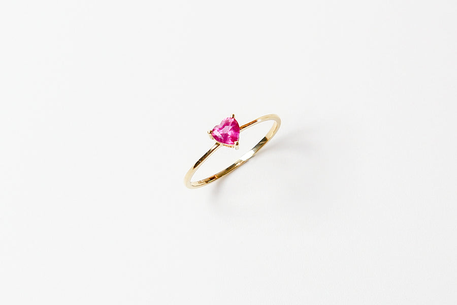 Rosetta Heart Shape Ruby 18 Karat Gold Ring 18k,y,#13
