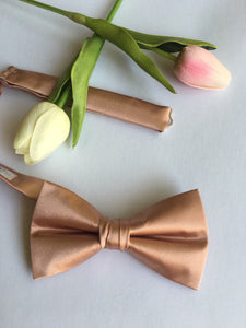 2 week production - Rose Gold Bow Tie - Pre Tied Messy Knot - Rose Gold Wedding - Mens Bow Tie - Rose Gold BowTie - Rose Gold Tie