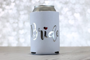 Bride Can Cooler - Bachelorette Party - Bachelorette Party Favors - Wedding Party Gifts - Gift for Bride - Rose Gold Can Cooler - Engagement