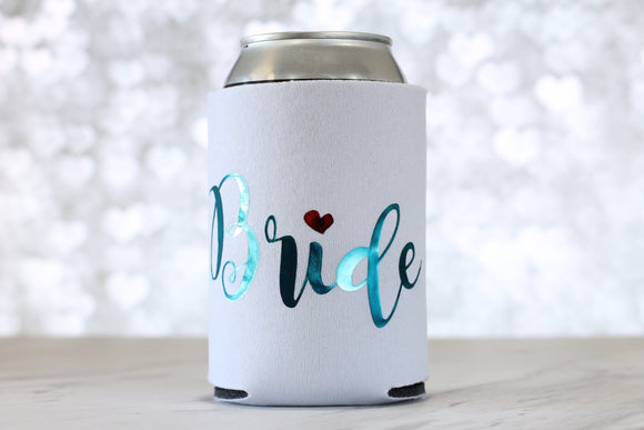 Bride Can Cooler - Bachelorette Party - Bachelorette Party Favors - Gift for Bride - Rose Gold Can Cooler - Wedding Gift