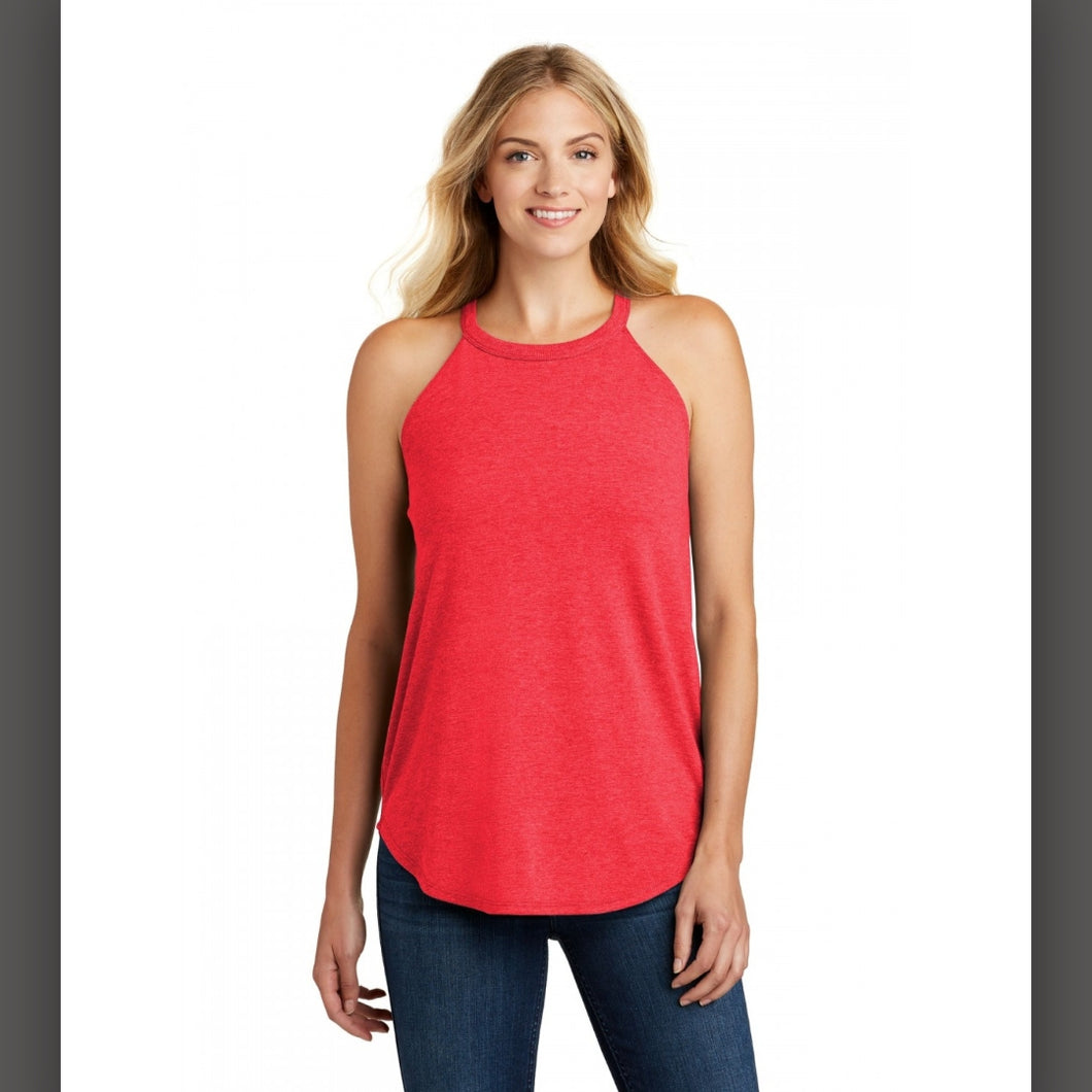 Good Vibes Only Tank- Heather Red