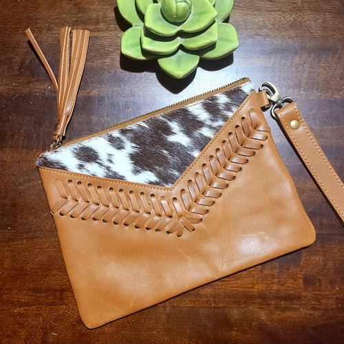 The Elvira Wristlet- Cognac
