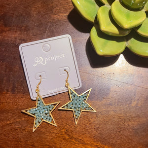 Wish Upon A Shooting Star Earrings- Mint