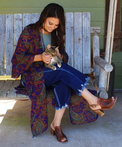 Whimsical Paisley Duster